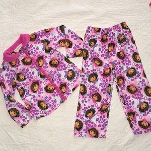 Little girls sz 4t Dora pj set